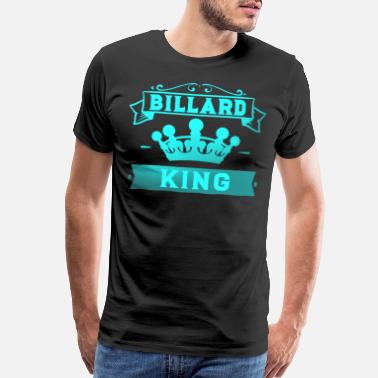 Table Billiard King with Crown Pool Snooker - Men's Premium T-Shirt