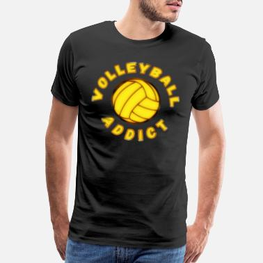 Spike Volley Beautiful volleyball T-shirt sports - Men's Premium T-Shirt