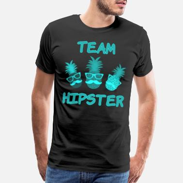 Pineapple Team Hipster pineapple colorful fruits - Men's Premium T-Shirt