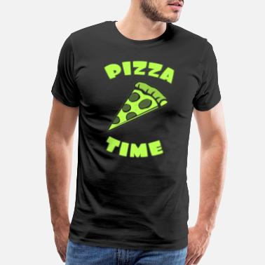 Pizza Funny Pizza time with pizza piece - Men's Premium T-Shirt