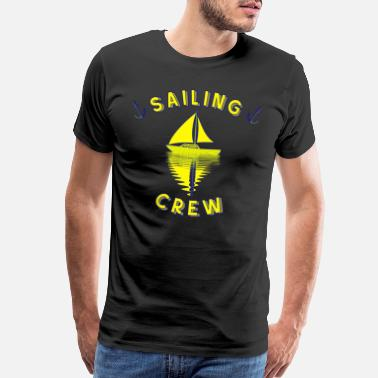 Pacific Sailing crew sailing ship sailing anchor - Men's Premium T-Shirt