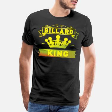 Cue Sports Billiard King with Crown Pool Snooker - Men's Premium T-Shirt