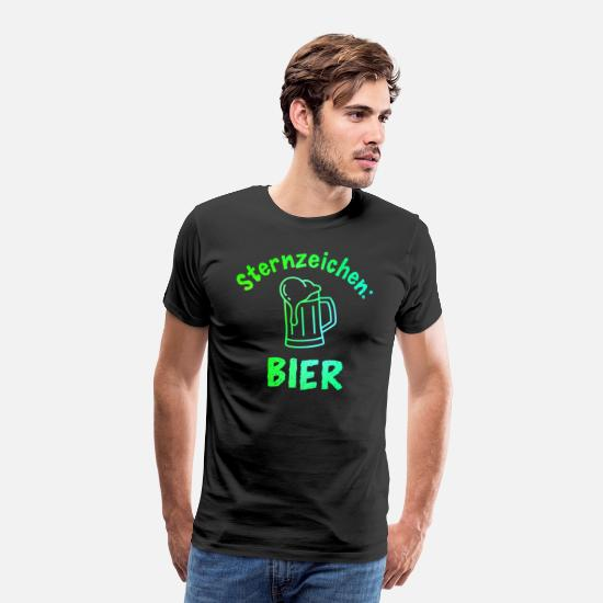 Beer T-Shirts - Star Sign Beer Funny Slogan Party brew - Men's Premium T-Shirt black