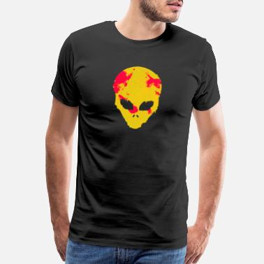 Ufo Alien face UFO space science space - Men's Premium T-Shirt