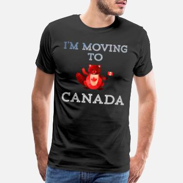 Vancouver I'm moving to Canada Beaver Gift MapleLeaf - Men's Premium T-Shirt