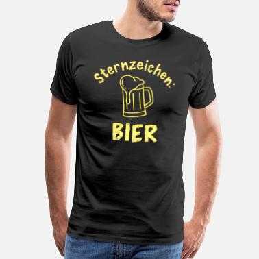 Bar Hop Star Sign Beer Funny Slogan Party whiskey - Men's Premium T-Shirt