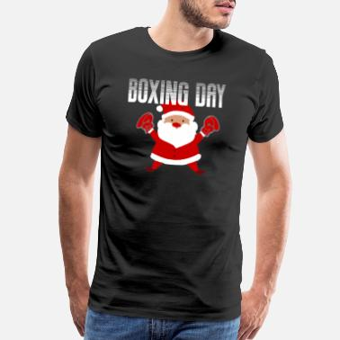 Punch Out Boxing Day for Heavyweight Boxer Santa, Gift - Men's Premium T-Shirt