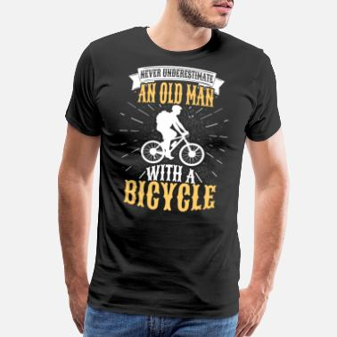 Old Man Bicycle Bicycle Grandpa Grandfather Family Cycling Gift - Men's Premium T-Shirt
