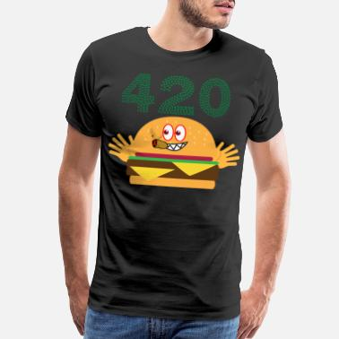 Cigarrillo 420 burger - Men's Premium T-Shirt