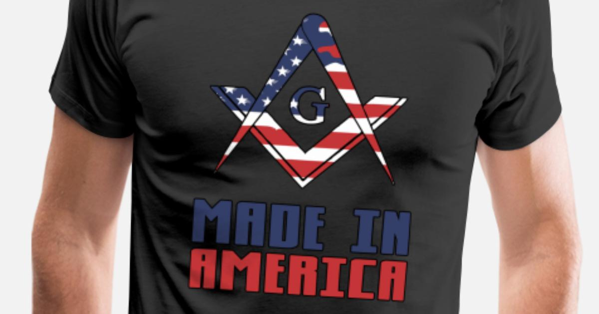 d007aef6 Made In America Masonry Proud Mason's Gift Idea Men's Premium T-Shirt |  Spreadshirt