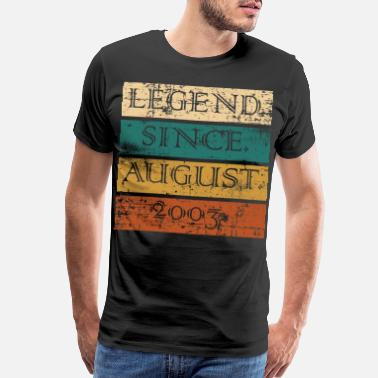 Natal Legend Since August 2003 17th Birthday Shirt For - Men's Premium T-Shirt