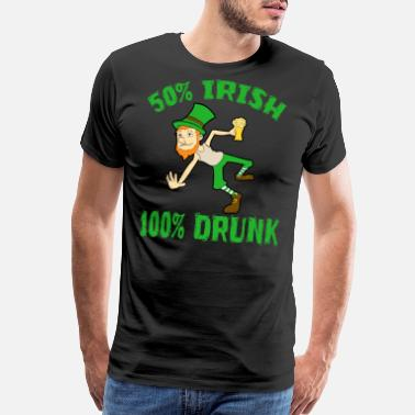 Lucky Fuck Drinking Team St. Patricks Day Birthday Gift - Men's Premium T-Shirt