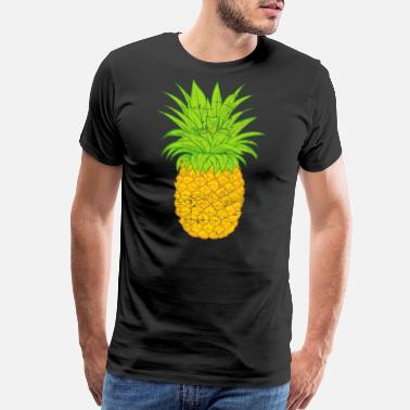Hawaiian Designs Retro Fruit Cool Pineapple Graphic Tshirt Summe - Men's Premium T-Shirt