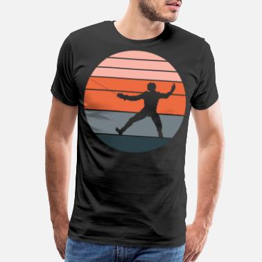 Pointless A Nice German Fencing Tee For Fencers Silhouette - Men's Premium T-Shirt