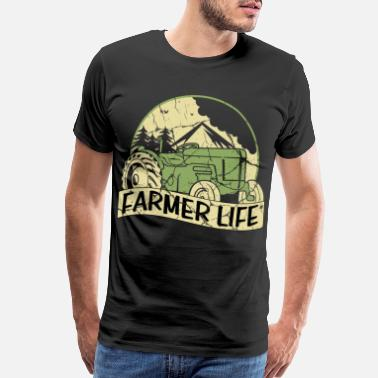 Engine V8 Tractor Cool Gift Trecker Farmer Farmer Shirt - Men's Premium T-Shirt