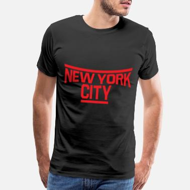 Central America New York lettering - premium design - Men's Premium T-Shirt