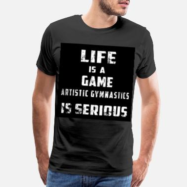 Serious ARTISTIC GYMNASTICS vintage funny sport gift for b - Men's Premium T-Shirt