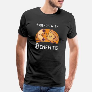 Butter Friends with Benefits | Cheese Macaroni Funny Gift - Men's Premium T-Shirt