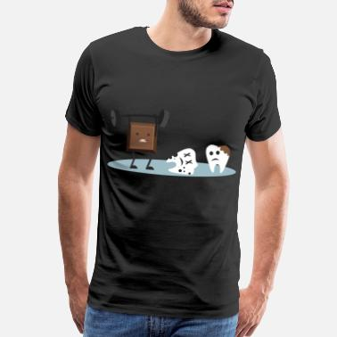 Marshmallow Dentist Chocolate Tooth Teeth - Men's Premium T-Shirt