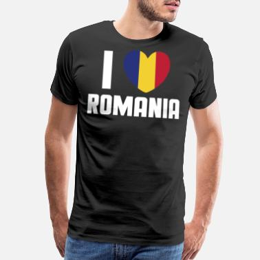 Abbreviation Love Romania - RO, ROU, ROMANIA - Men's Premium T-Shirt