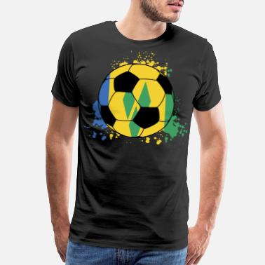 Saint Vincent And The Grenadines Saint Vincent And The Grenadinessoccer Crew - VC, - Men's Premium T-Shirt
