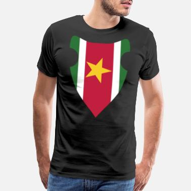Sr SURINAME FLAG - Men's Premium T-Shirt