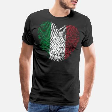 Funny Country Music Italy in my DNA: italy Heart - Men's Premium T-Shirt
