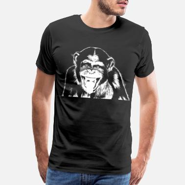 Ape Face Ape Friendly Chimp - Chimpanzee - Men's Premium T-Shirt