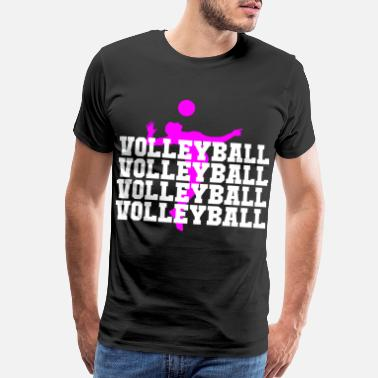 Net volleyball player volleyball woman volleyball pres - Men's Premium T-Shirt