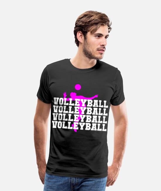 Sweetheart T-Shirts - volleyball player volleyball woman volleyball pres - Men's Premium T-Shirt black