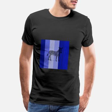 Retro Zebra 8ra - Men's Premium T-Shirt