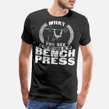 Bench Bench press training weights Gift - Men's Premium T-Shirt