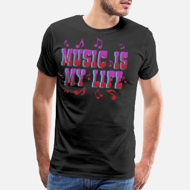 Life Force Music is Life life force, love, typography - Men's Premium T-Shirt