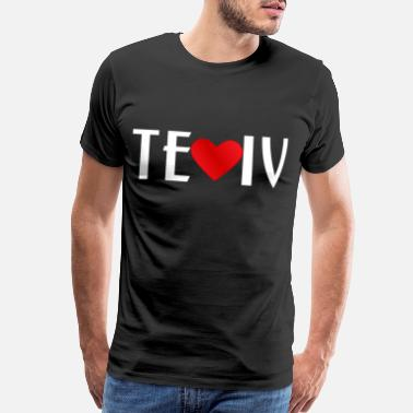 Jewish Shirt design I love Tel Aviv Israel - Men's Premium T-Shirt