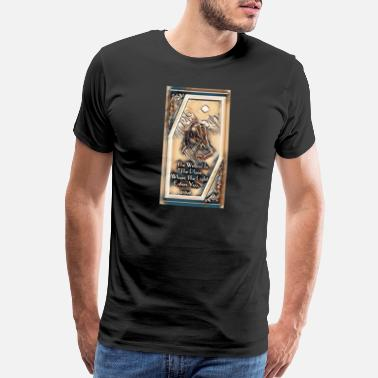 Rumi The Wall Is An Illusion v3 - Men's Premium T-Shirt