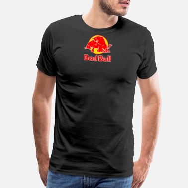 Bad Bull Bad Bull Funny Red Bull Logo Sex Graphic Parody - Men's Premium T-Shirt