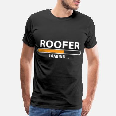 Roof Roofer Construction Installation Job Gift - Men's Premium T-Shirt
