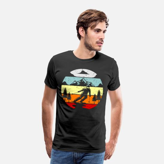 Gift Idea T-Shirts - Ski Wintersport SKi Jumper Gift Idea - Men's Premium T-Shirt black
