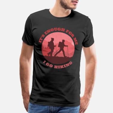 Snowboarding I go hiking - Men's Premium T-Shirt