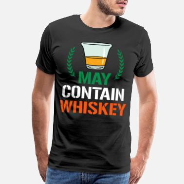 Chicago St Patricks Day Saint Patty Warning Whiskey Gift - Men's Premium T-Shirt