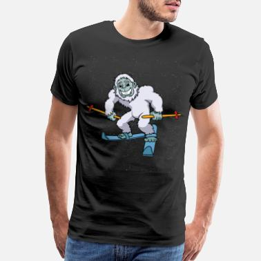 Aspen Snowboarder Yeti Snowboarding Winter Bigfoot Gift - Men's Premium T-Shirt