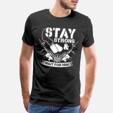 Nra Stay strong and wait for Him gun american - Men's Premium T-Shirt