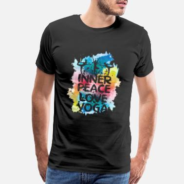 Lotus Flower Love Peace Yoga - Men's Premium T-Shirt
