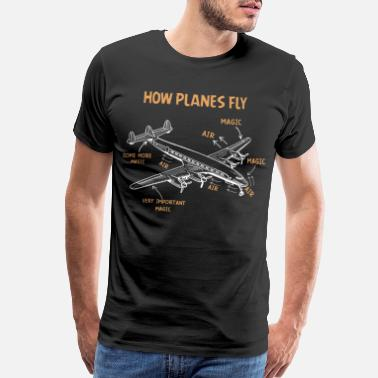 Airline Airplane Pilot Aviation Helicopter Gift - Men's Premium T-Shirt