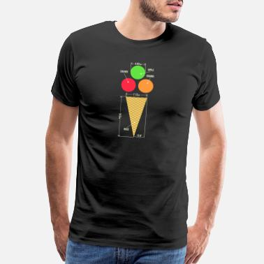 Technical Drawing Ice Cream - Men's Premium T-Shirt