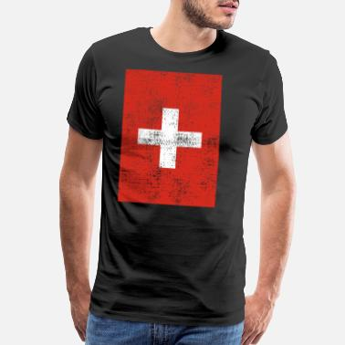 Switzerland Swiss flag vintage - Men's Premium T-Shirt