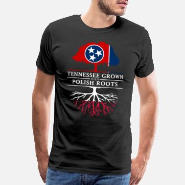 Tennessee Tennessee Grown with Polish Roots Poland Design - Men's Premium T-Shirt