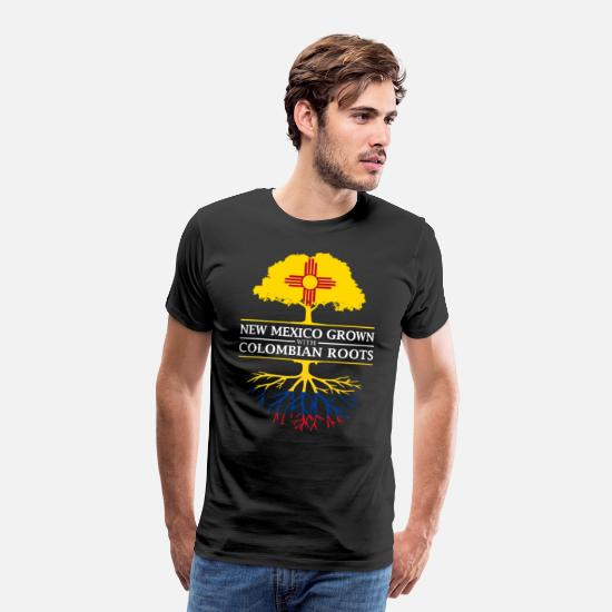 Patriot T-Shirts - New Mexico Grown with Colombian Roots Colombia - Men's Premium T-Shirt black