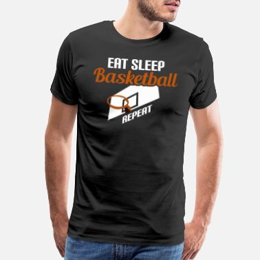 Graffiti Basketball Eat Sleep Basketball - Men's Premium T-Shirt