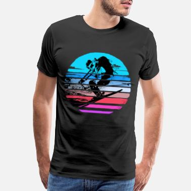 Freestyle Skier Apres Ski Instructor Snow Lift Winter Vacation - Men's Premium T-Shirt